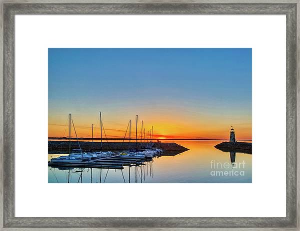 Sleeping Yachts Framed Print