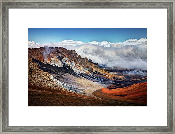 Sliding Sands Trail, Haleakala National Framed Print