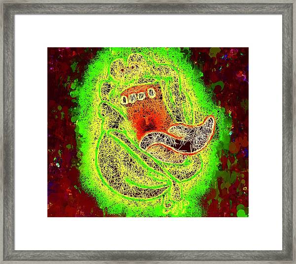 Slimer Ghostbusters Framed Print