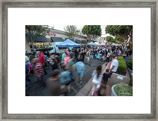 Slo Farmers Market Framed Print