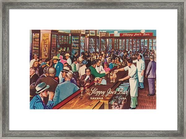 Sloppy Joes Bar, Havana, Cuba, 1951 Framed Print
