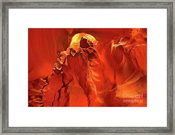 Slot Canyon Formations In Upper Antelope Canyon Arizona Framed Print