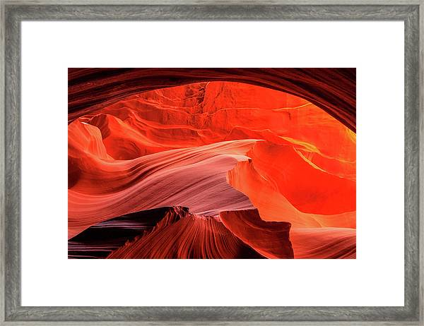 Slot Canyon Waves 1 Framed Print