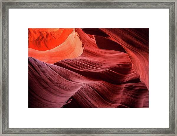 Slot Canyon Waves 2 Framed Print
