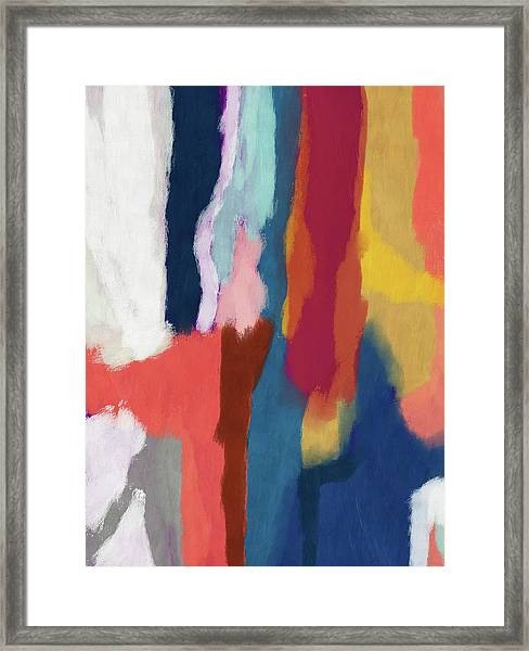 Slow Burn 2- Abstract Art By Linda Woods Framed Print