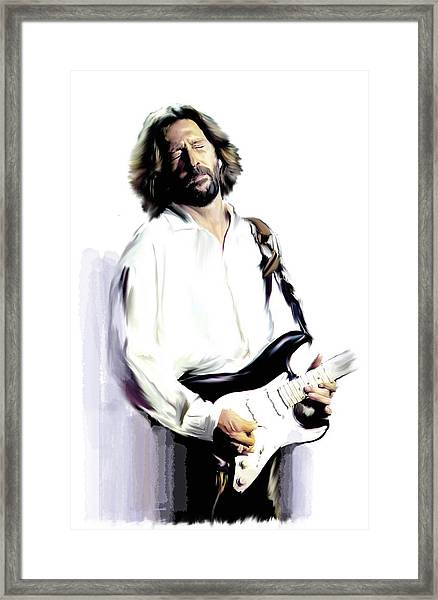 Slow Hand  Eric Clapton Framed Print