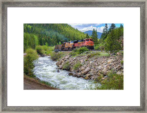 Slow Train Coming Framed Print by G Wigler