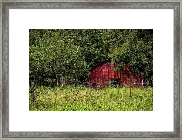 Small Barn Framed Print