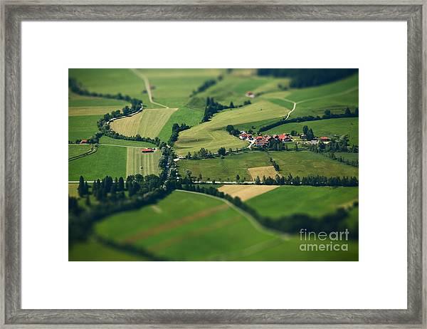 Small Bavarian Village In A Fields Framed Print