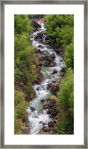 Framed Print featuring the photograph Small Cascade 1x2 Vertical by William Dickman