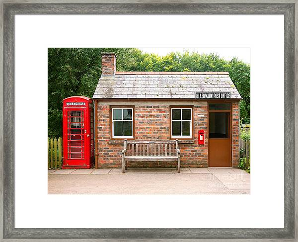Small Traditional Brick Building With Framed Print