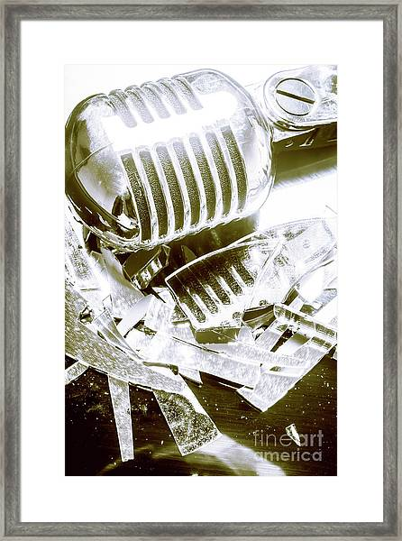 Smash Hit Framed Print