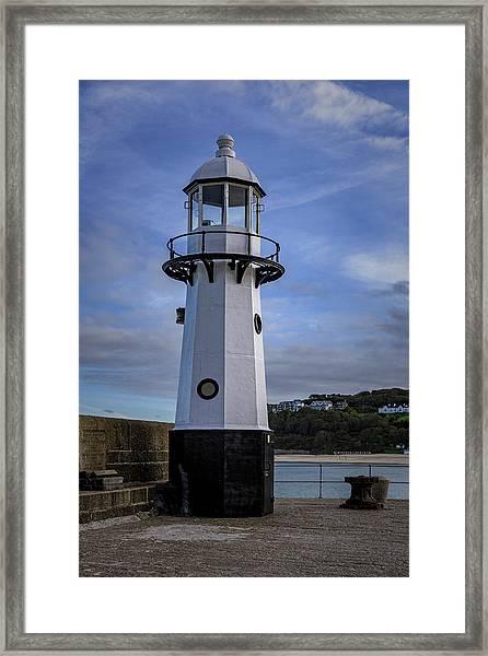 Smeaton's Pier Lighthouse Framed Print