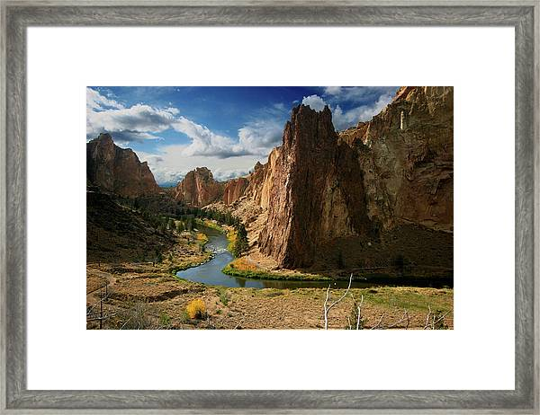 Smith Rock In Autumn Framed Print