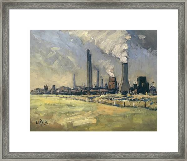 Smoke Stacks Prins Maurits Mine Framed Print