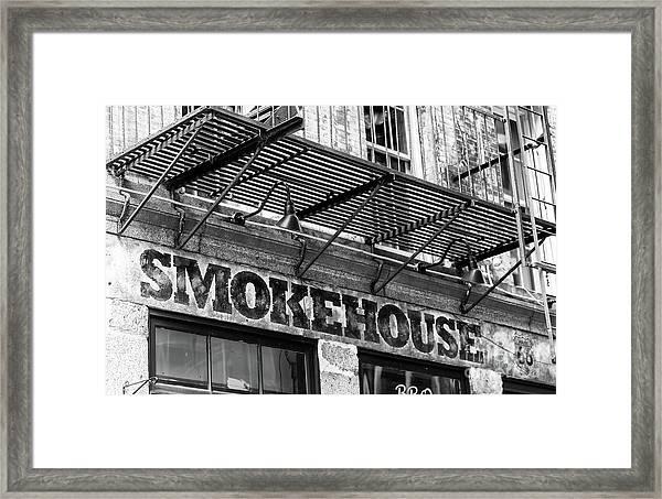 Smokehouse New York City Framed Print by John Rizzuto