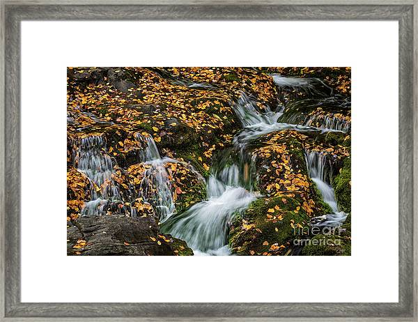 Smokey Mountain Falls Framed Print