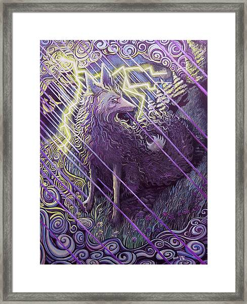 Smokey Rain Framed Print