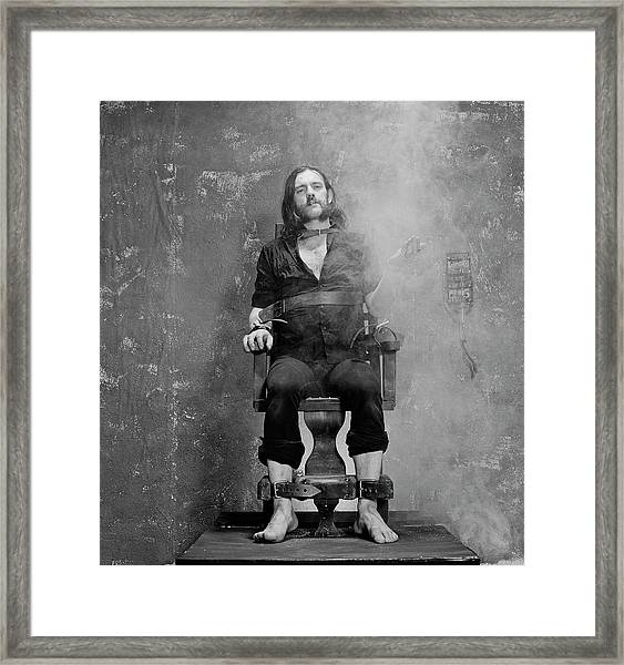 Smokin Lemmy Framed Print