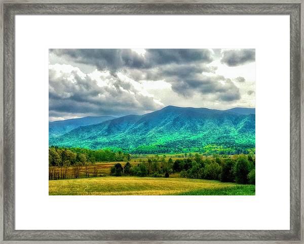 Smoky Mountain Farm Land Framed Print