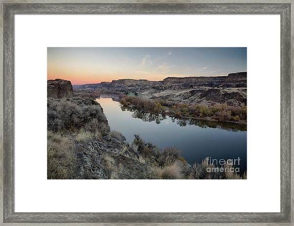 Snake River Dawn Framed Print