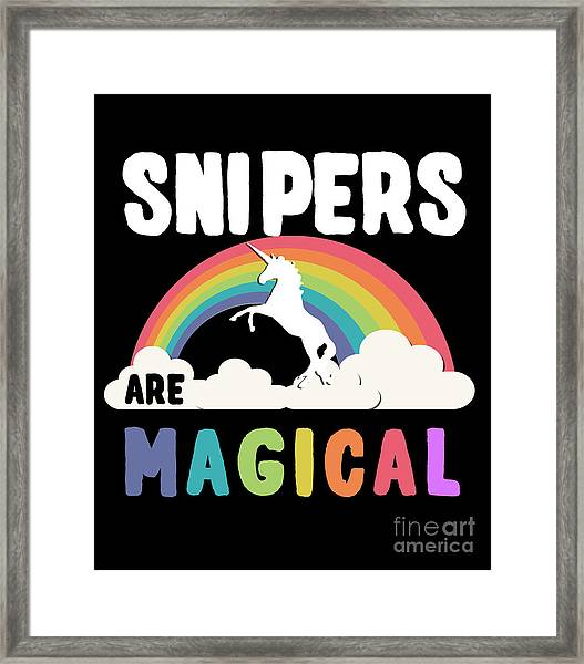 Framed Print featuring the digital art Snipers Are Magical by Flippin Sweet Gear