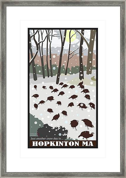 Snow Day In Hopkinton Framed Print