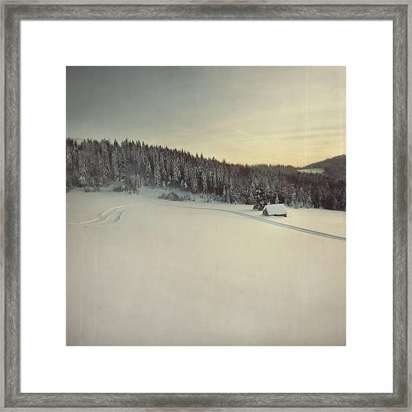 Snow Field Framed Print by Tom
