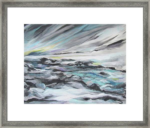 Snow Flow Framed Print