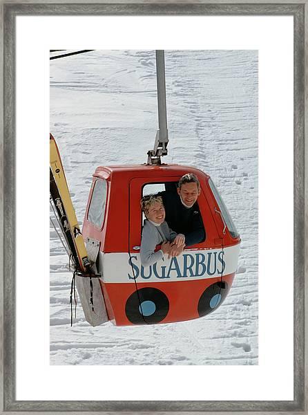 Snow Lift Framed Print