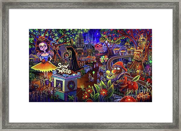 Snow White Amusement Park Framed Print