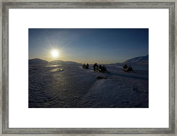 Snowmobile Expeditions Framed Print
