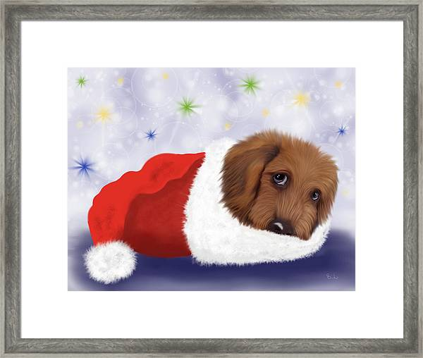 Snuggle Puppy Framed Print
