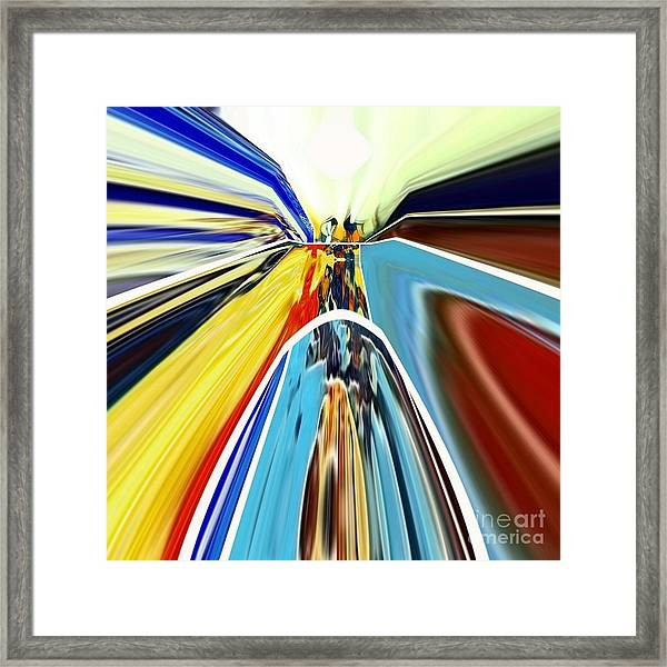 Framed Print featuring the digital art So Far Away by A zakaria Mami