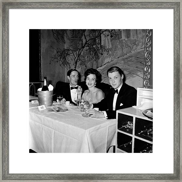 Society Dinner Framed Print