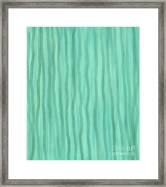 Soft Green Lines Framed Print