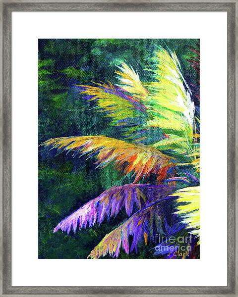 Soft Palm Framed Print