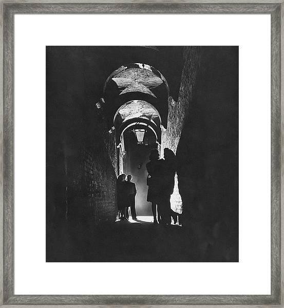 Soho At Night Framed Print by Popperfoto