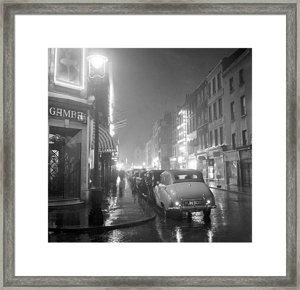 Soho Night Framed Print by Peter Purdy