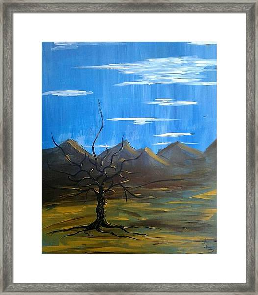 Framed Print featuring the painting Solo And Beautiful  by Aaron Bombalicki