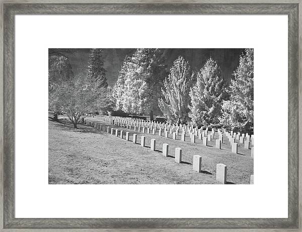 Somber Scene Framed Print