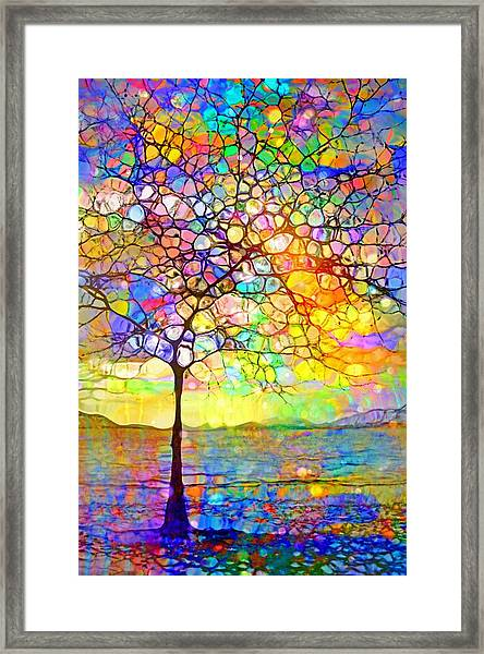 Sometimes We All Need A Little Colour Framed Print