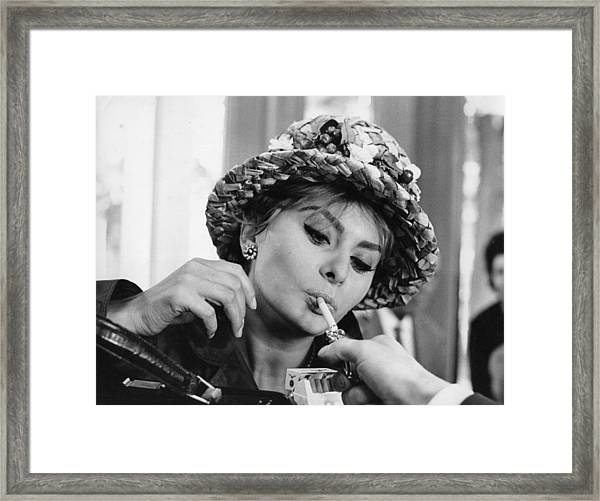 Sophia Smoking Framed Print by Keystone Features