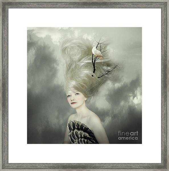Sophisticated And Artistic Portrait Of Framed Print