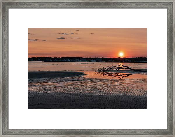 Soundview Sunset Framed Print