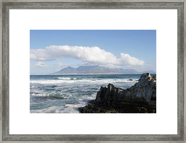 South Africa, Robben Island, View To Framed Print by Tony Souter