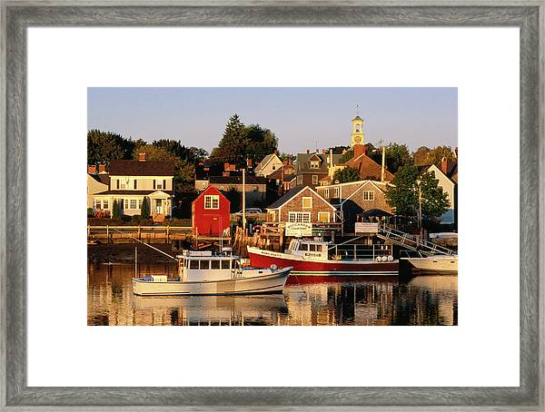 South End, Harbor And Houses Framed Print
