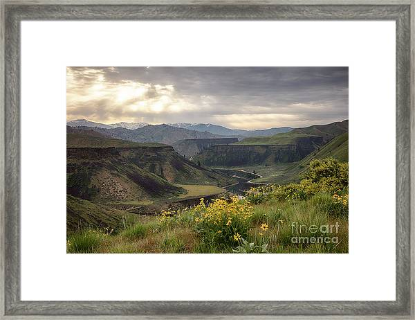 South Fork Boise River Spring Framed Print