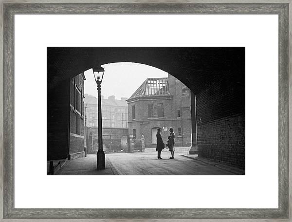 South London Street Framed Print
