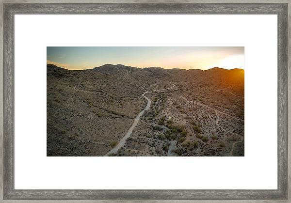 South Mountain Canyon Framed Print